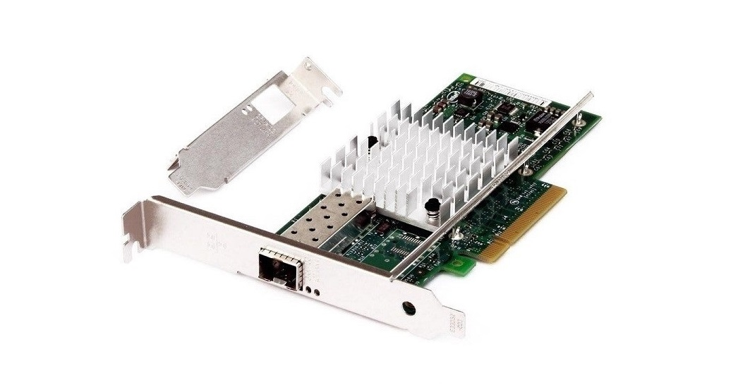 HP Intel X520-SR1 Single-Port Fiber Optic 10Gigabit SFP+(Free) PCI Express 2.0 x8 Ethernet Adapter 713568-001
