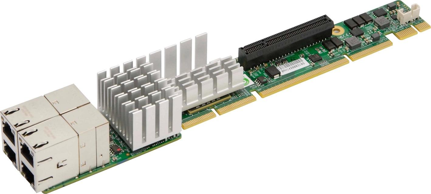 SuperMicro AOC-UR-I4XT 4x10GBase-T PCI-E 3.0 x8 1U Ultra Riser Adapter