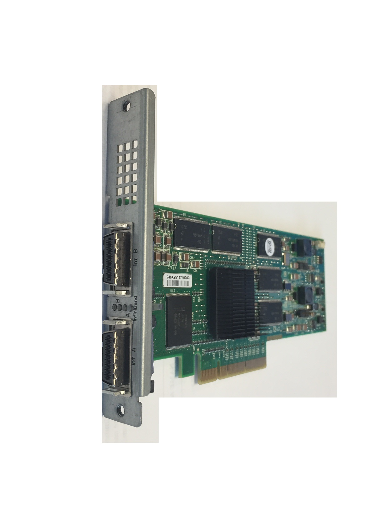Mellanox Infinihost III EX HCA PCI Express x8 Card Dual-Port Host Bus Adapter MHGA28-1TC (Proprietary Bracket)