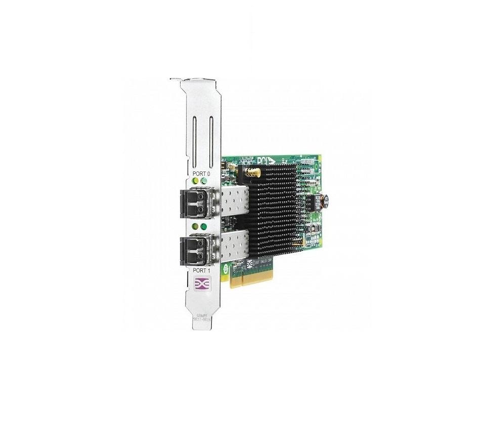 HP 82E 8GB Dual-Port PCI-E Fibre Channel Host Bus Adapter w/ Transceivers AJ763B