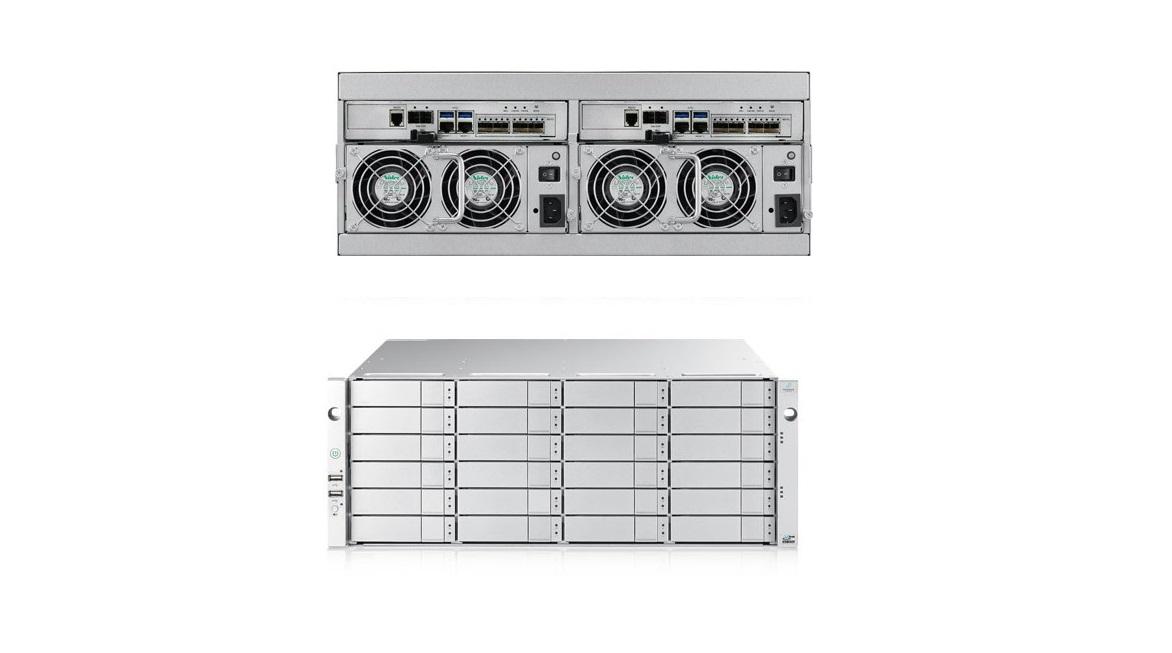 Promise Technology Vtrak E5800f (24x10TB) 24-Bay Sas W 2x Modules P/S 4U Storage System J5800SDQS10