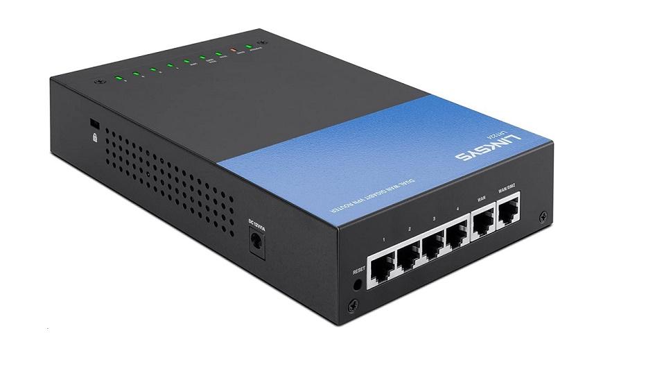 Linksys Dual Business GigaBit 4-Ports Switch VPN Router LRT224