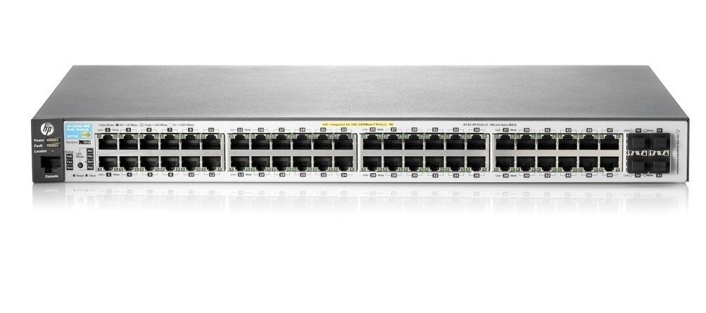 HP Aruba J9778A 2530-48-PoE+ 48-Ports 10/100/1000Base-T 1U Rack-mountable Switch J9778A#ABA