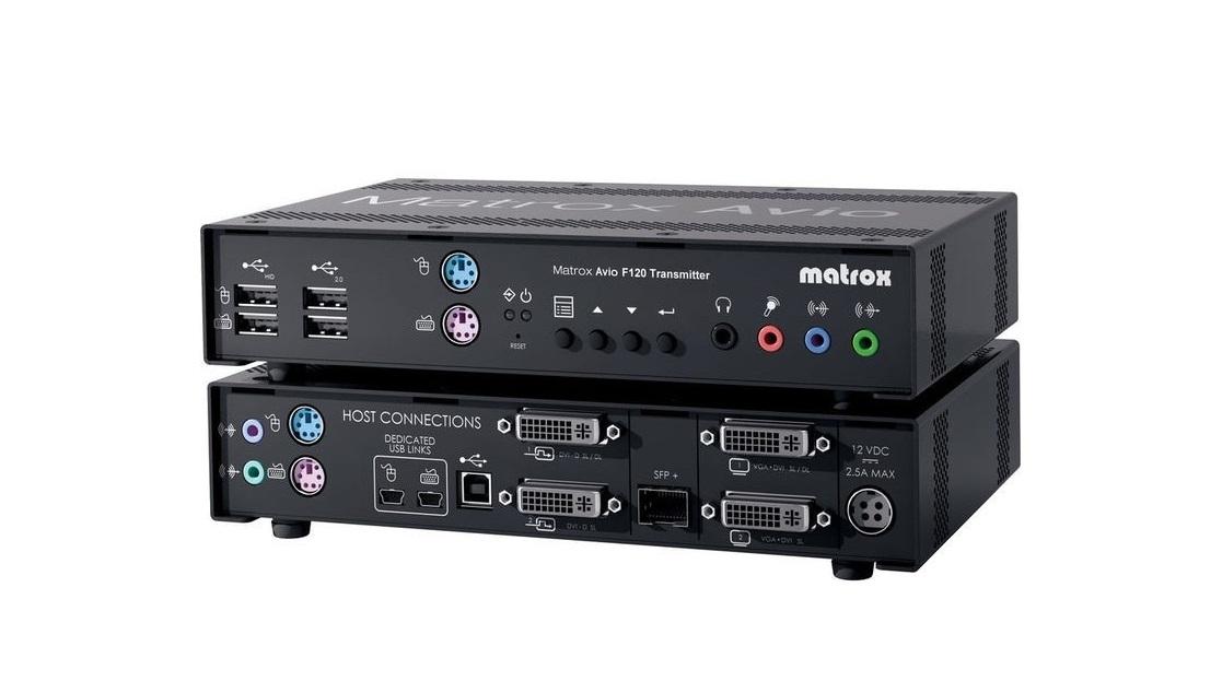 Matrox Avio Dual-DVI USB Fiber Optic KVM Transmitter AV-F125TXF