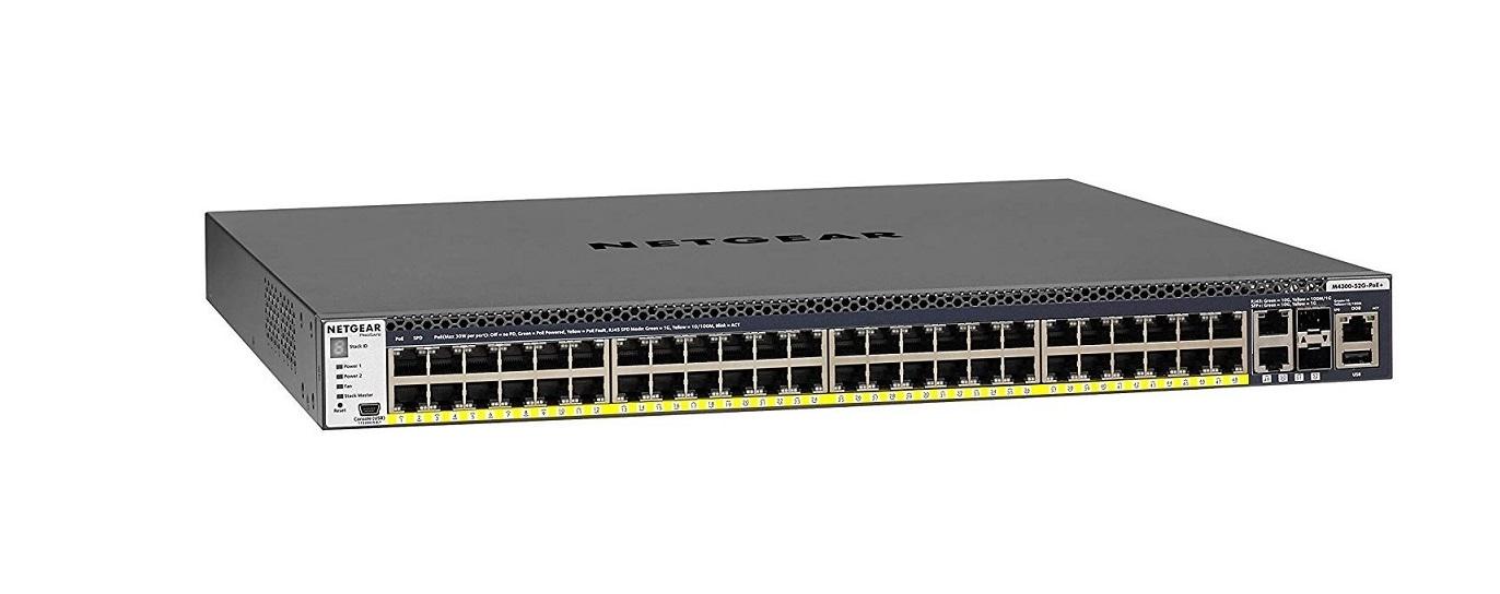 NetGear 48-Ports Fully Managed Switch M4300-52G-PoE+/10G 1000W GSM4352PB-100NES