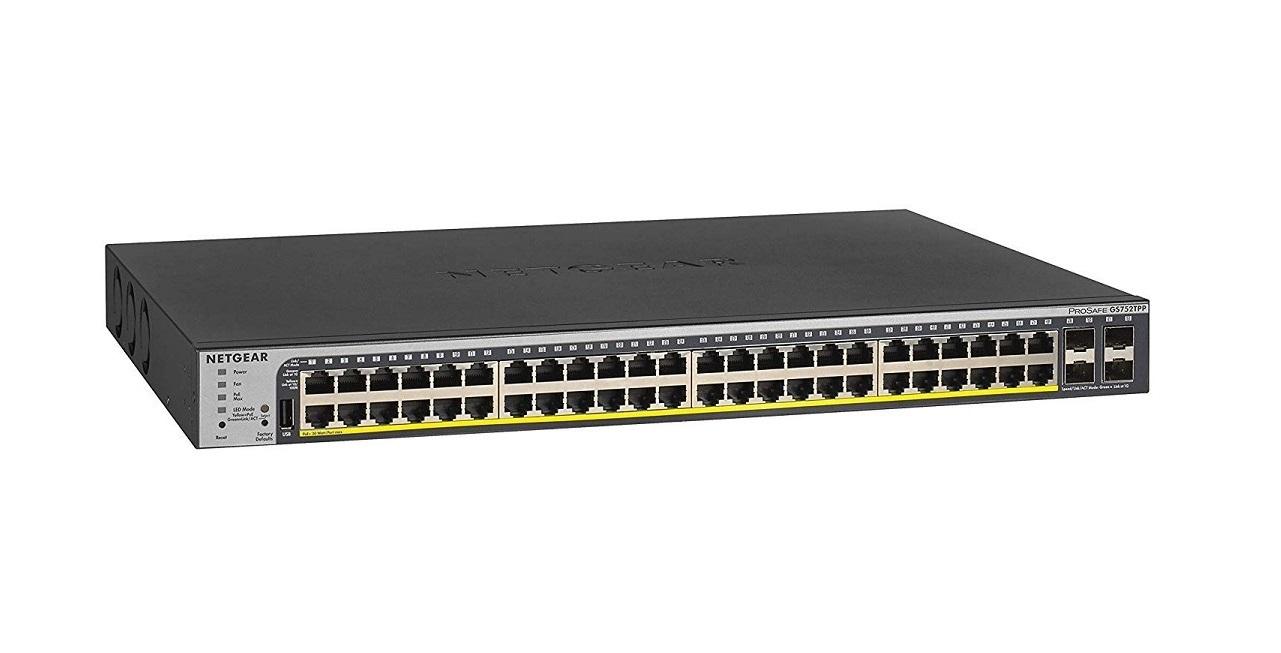 Netgear GS752TPP 48-Ports POE+ Switch 4x Sfp Ports GS752TPP-100NAS GS752TTP-100NAS