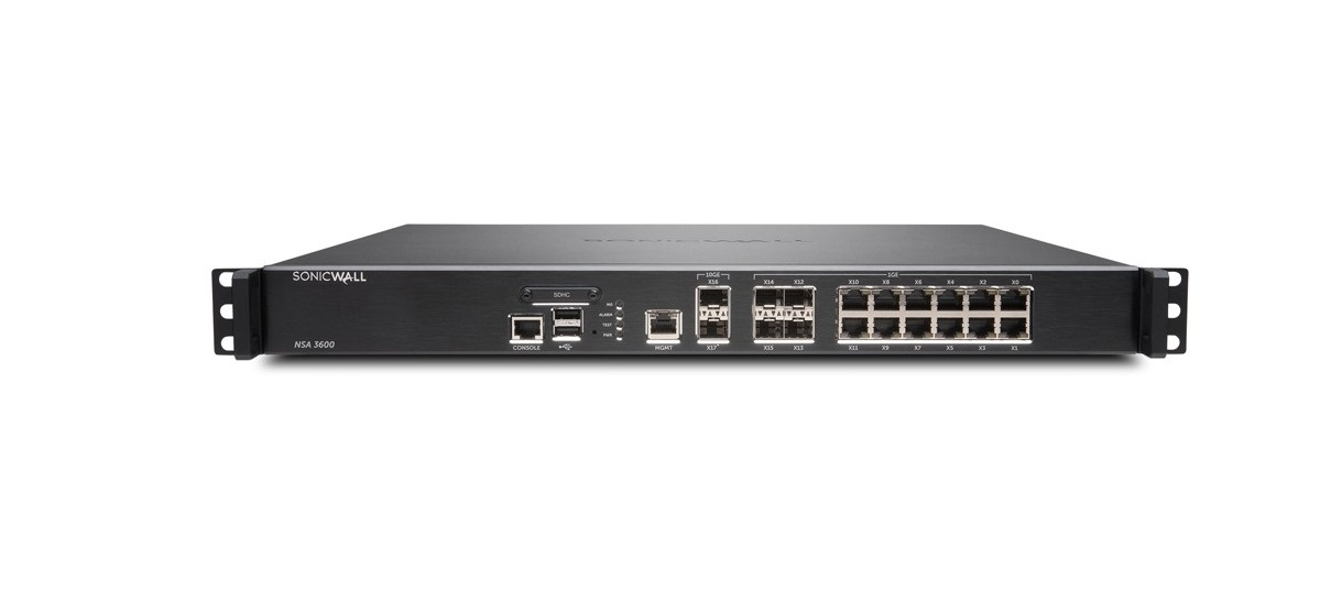 SonicWall Upgrade Nsa 3600 Network Security Firewall Appliance 01-SSC-1732