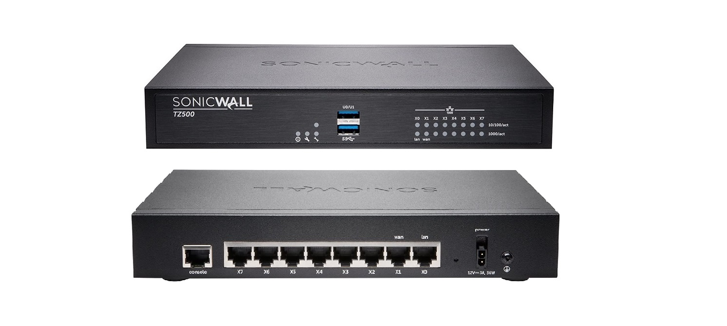 Sonicwall TZ500 8-Ports Advanced Edition Security Appliance 01-SSC-1708