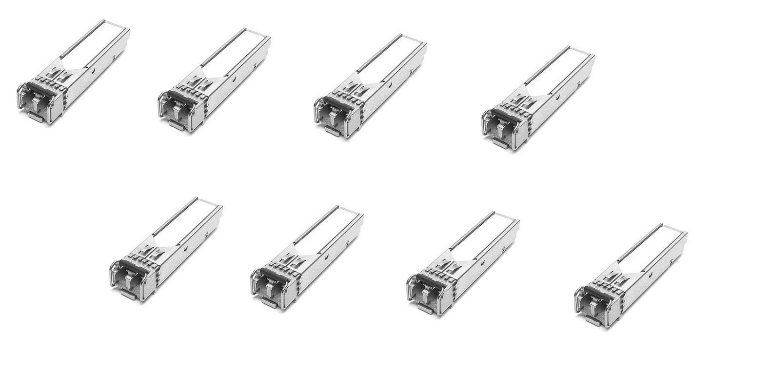 Brocade 1000Base-SX LC SFP Transceiver Pack of 8 E1MG-SX-OM-8