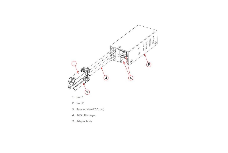 Ruckus 10G Lrm SFP+ Optic 1-Pack Bundle With Lrm Adapter 10G-SFPP-LRM-1-ADP