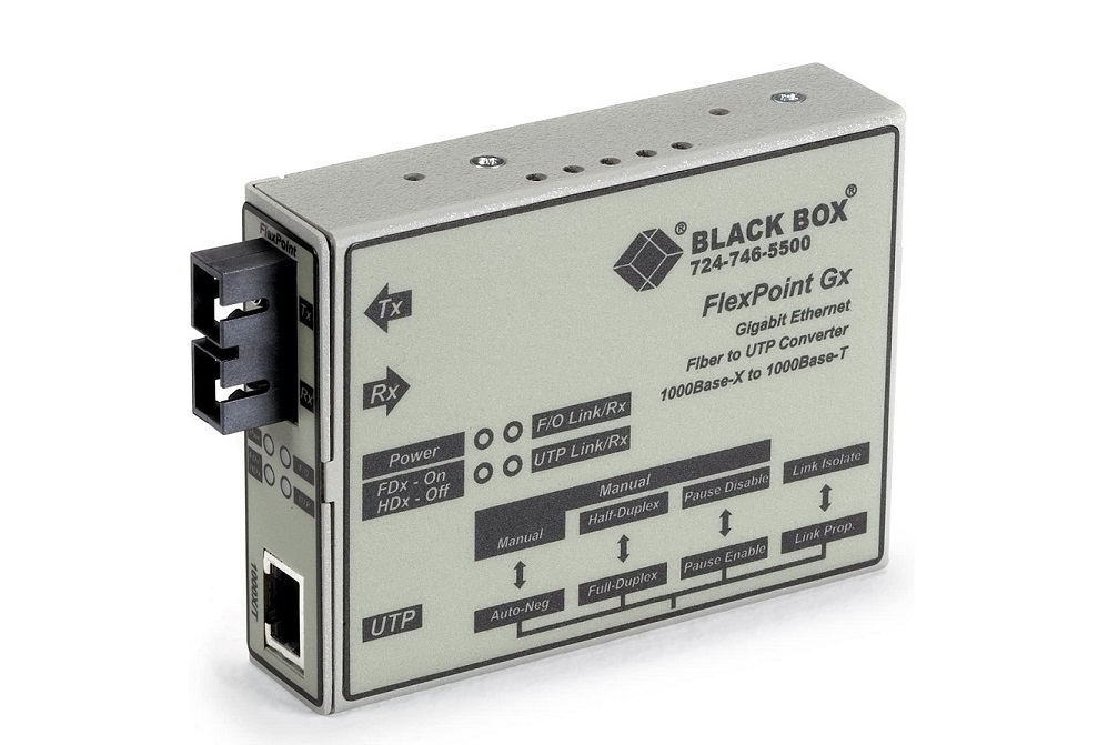 Black Box Flexpoint Modular Media Gigabit Ethernet Single Mode 1310nm 10km Sc Converter LMC1004A-R3