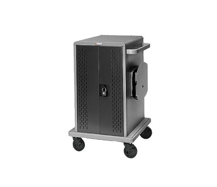 Bretford 36 Unit Chromebook Cart w/Doors w/Casters Back Panel CDWCHROME36