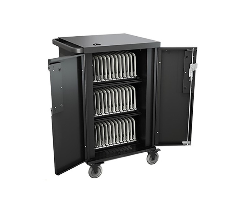 Bretford Core X Charging Cart With Back Panel For Up To 36 Devices TCOREX36