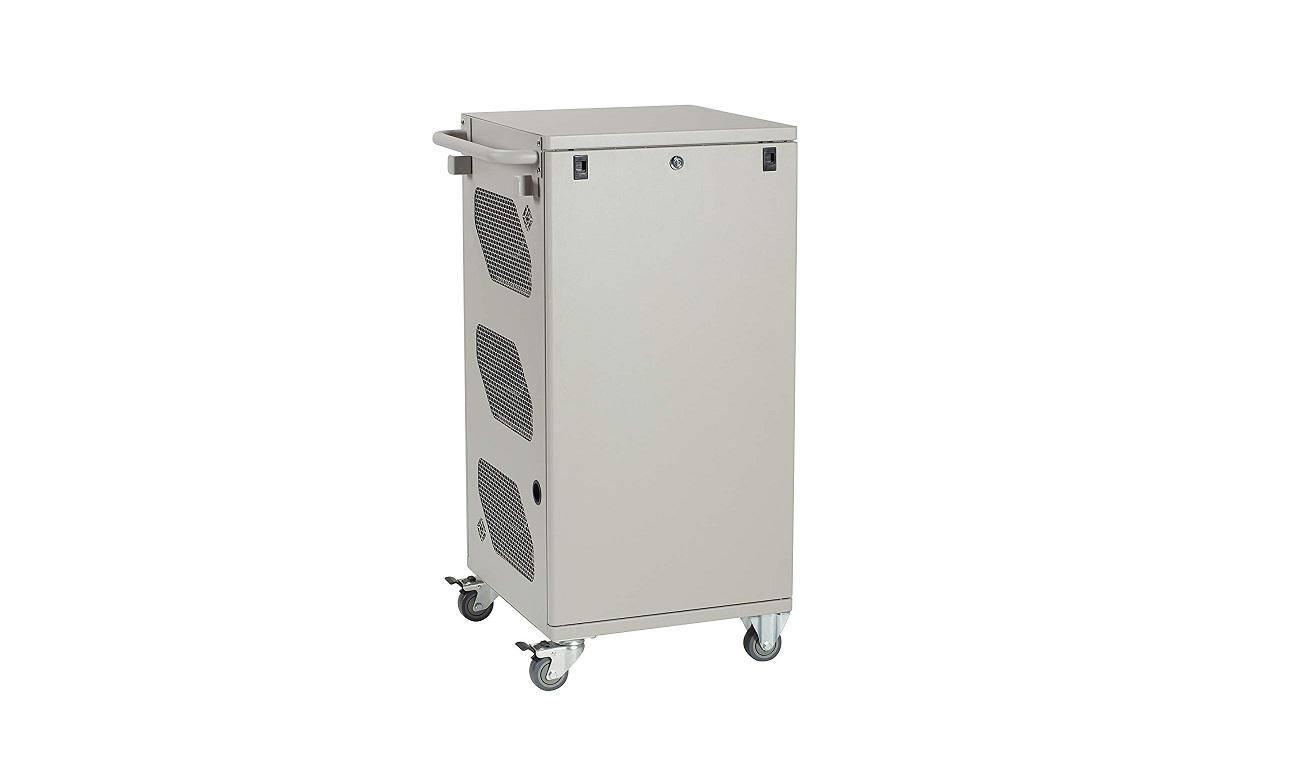 Black Box Basic Charging Cart 30 Device Hinged Door Hasp Lock 3 Shelf VLC30SK-HD-HASP