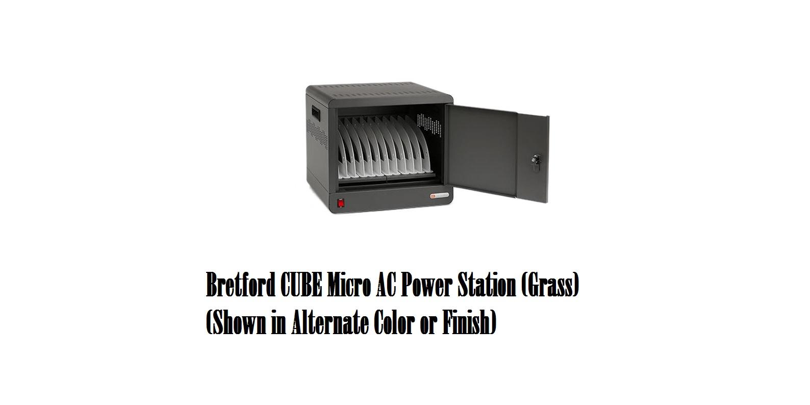 Bretford TVS10AC-GRA Cube Micro AC Power Station Color Grass