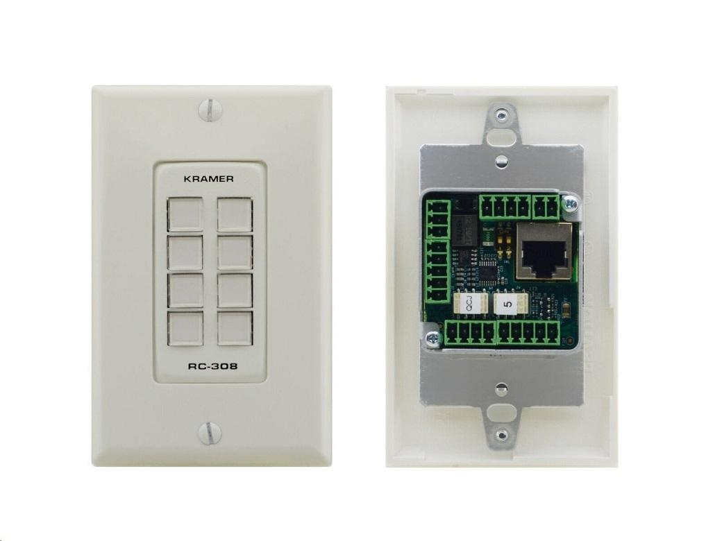 Kramer 8BTN PoE and I/O Control KeyPad RC-308/US-D