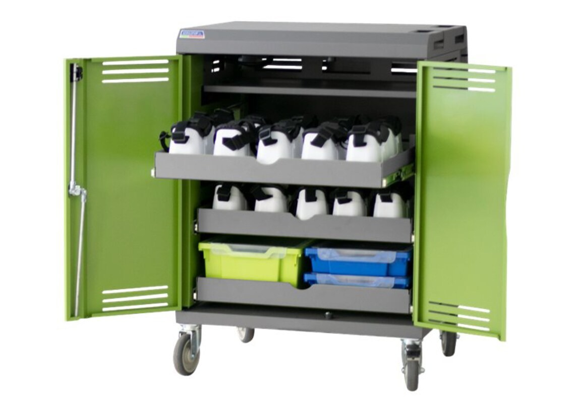 Spectrum Brands VR30 Device Storage Charging Cart Green 55493-JBH10