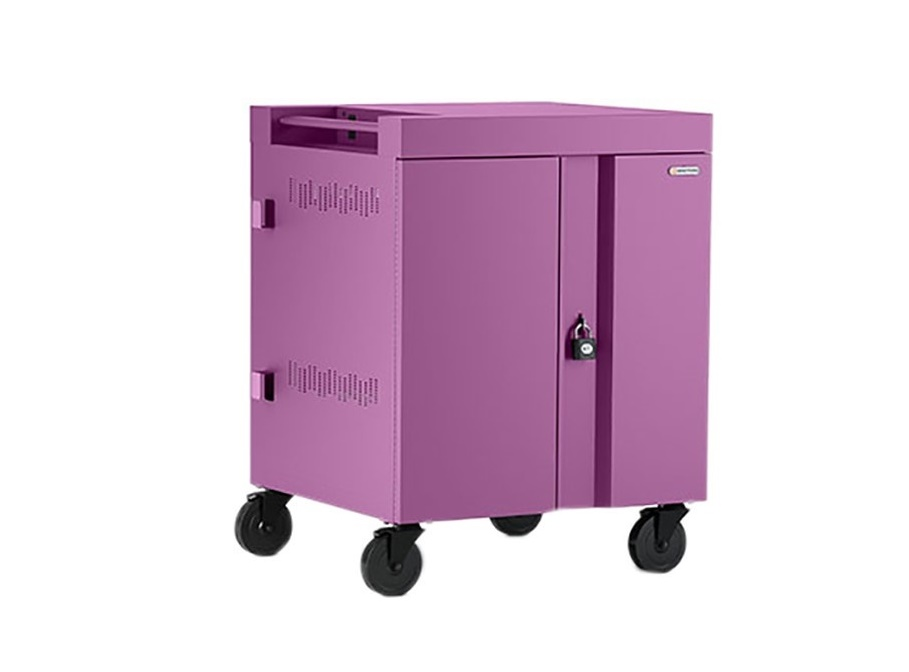 Bretford TVC32PAC 32-Unit Cube Charge AC Cart Orchid TVC32PAC-ORC