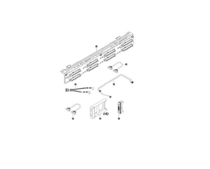 Lenovo 8-Bay Backplane 2.5 Kit For Thinksystem SR530/SR630 7XH7A05896