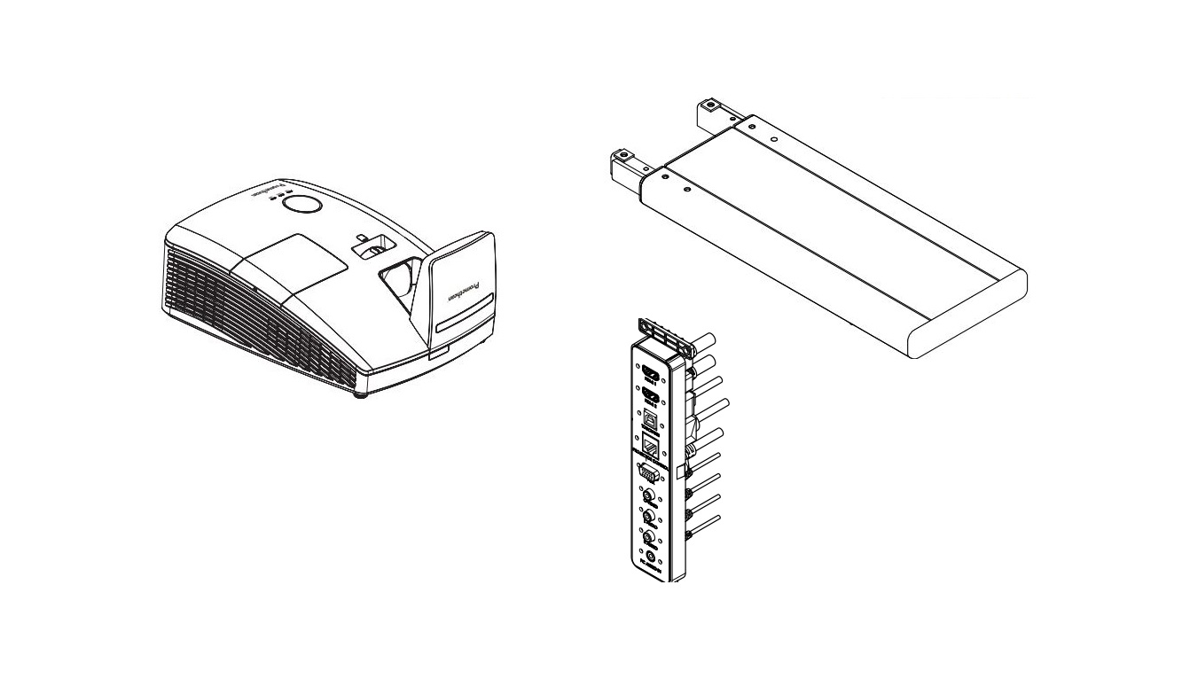 Promethean Retrofit Kit For UST-P2 Projector ABKIT-AFSV4-UST2 ABKITAFSV4UST2