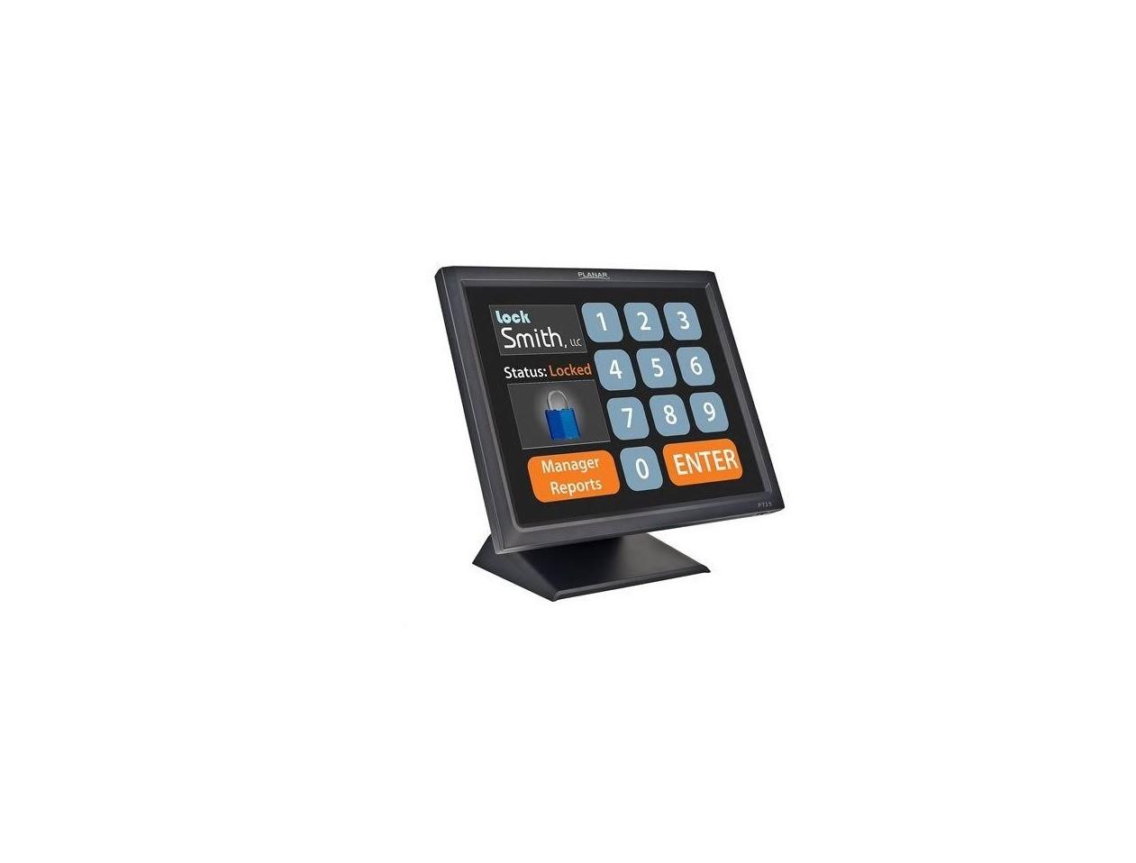 15 Planar PT1545R 1024x768 VGA Serial USB w/ Speakers LCD TouchScreen Monitor Black 997-5967-00