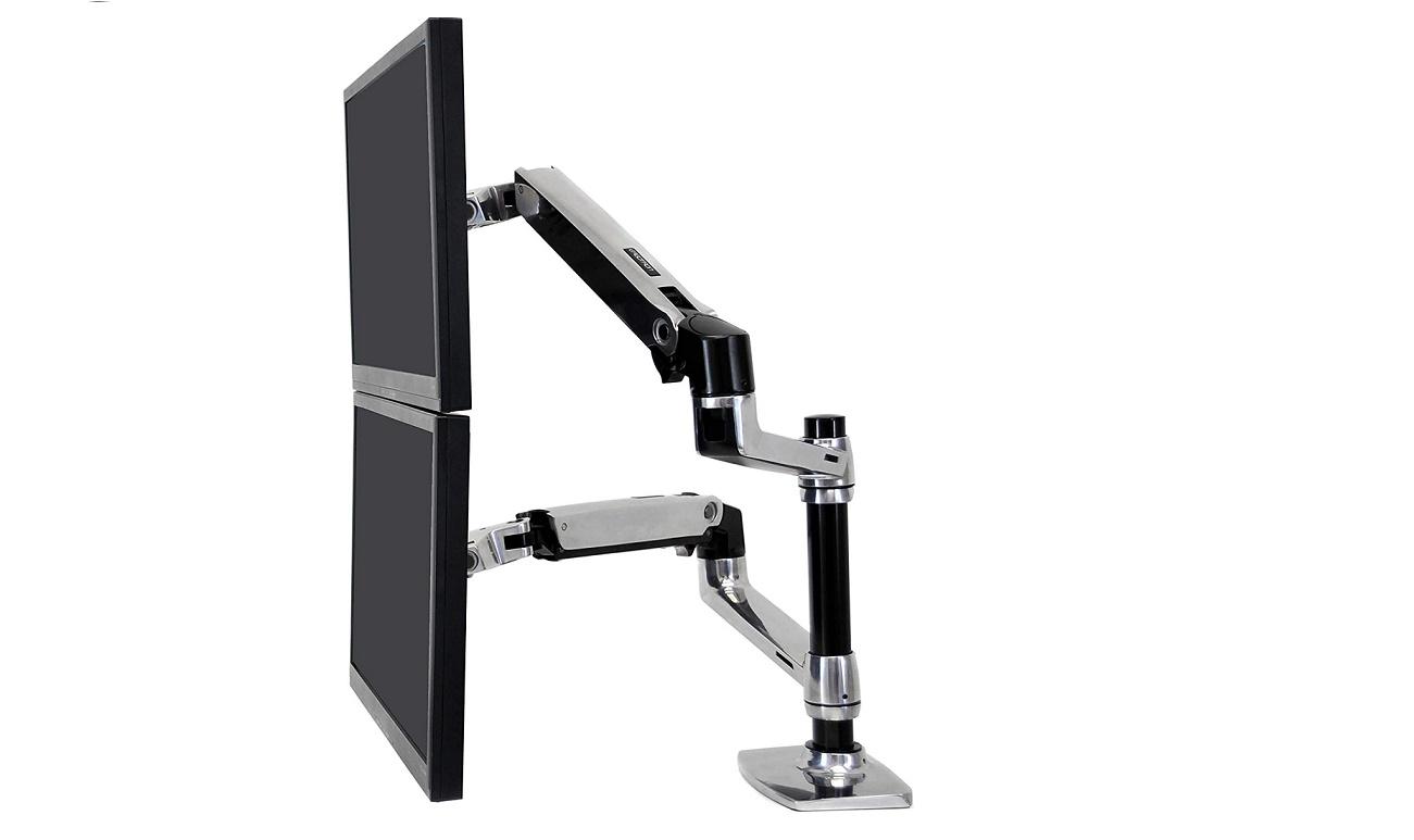 Ergotron LX Dual Stacking Arm Up To 24 Monitors 45-248-026 45248026 (New Unused)