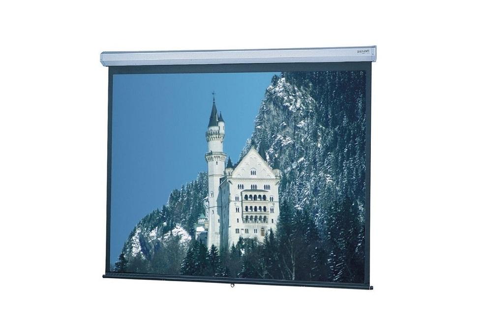 Da-Lite Model C Manual Wall and Ceiling Projection Screen 52x92 106 Diagonal Matte White 106 Diagonal 79040