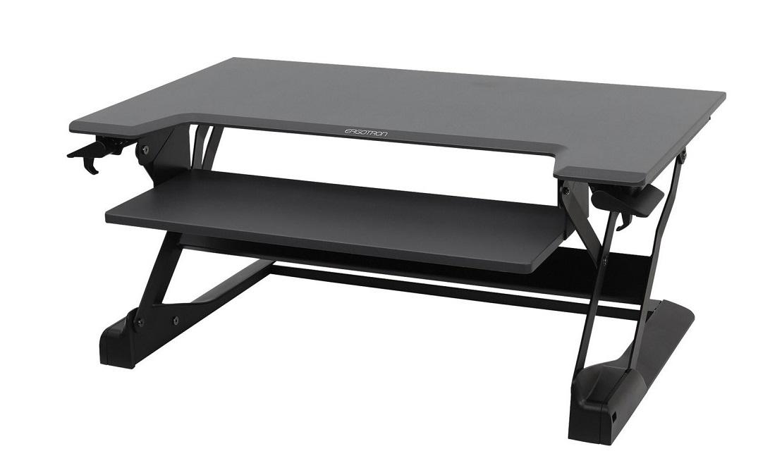 Ergotron WorkFit-TL Sit-Stand Desktop Workstation LCD Display Stand Black 33-406-085