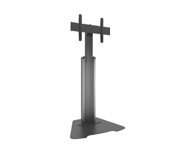 Chief Medium Fusion Adjustable Floor AV Stand For LCD 37-55 Black Silver MFAUS.