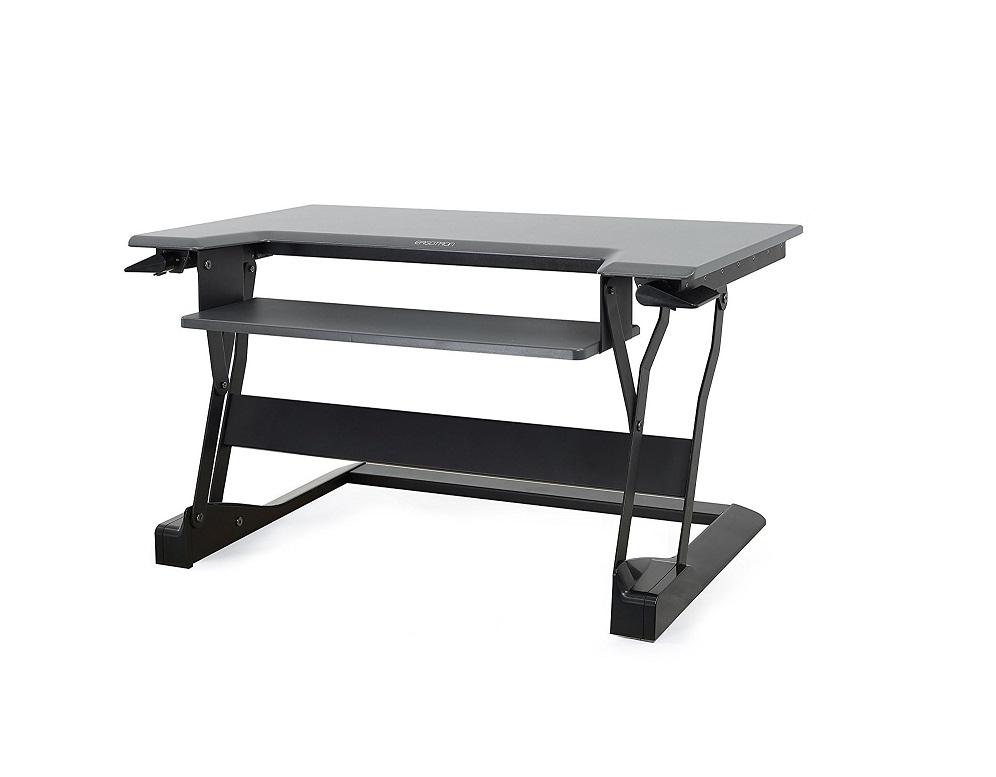 Ergotron WorkFit-T Sit-Stand Desktop Workstation Stand Black 33-397-085