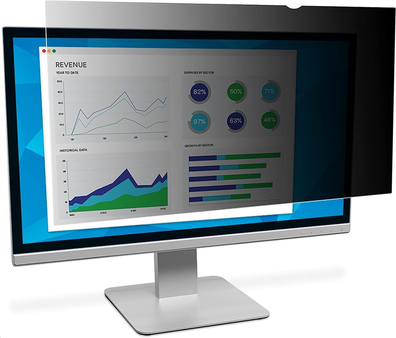 3M Black Privacy Filter For 31.5 In Widescreen Monitor PF315W9B