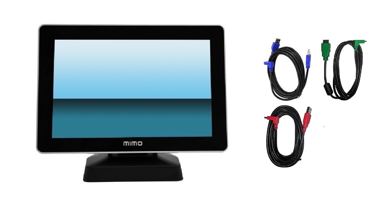 10.1 Ais MIMO Vue HD 1280x800 With HDMI Capture Built in TouchScreen Monitor Black UM-1080CP-G