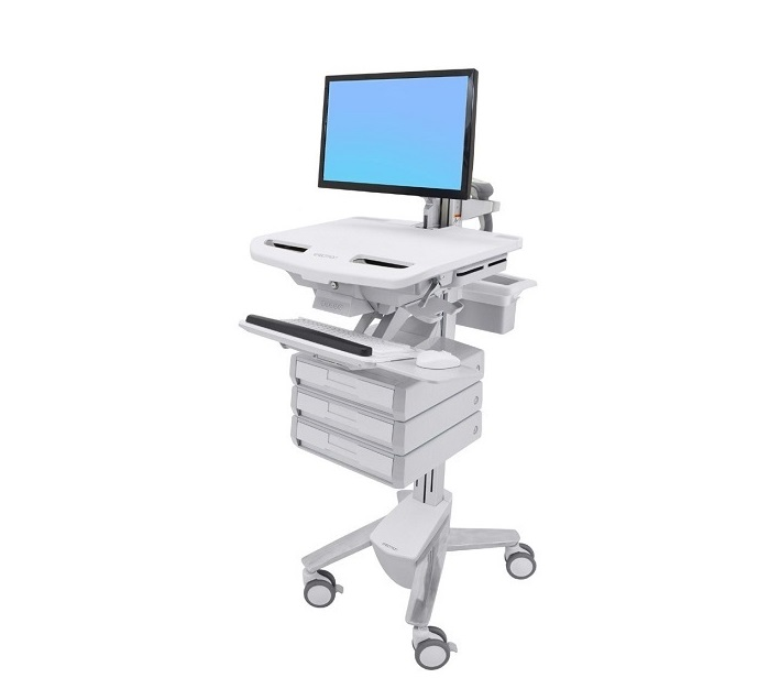 Ergotron Styleview Cart With LCD Arm (1x3) Drawers SV43-1230-0