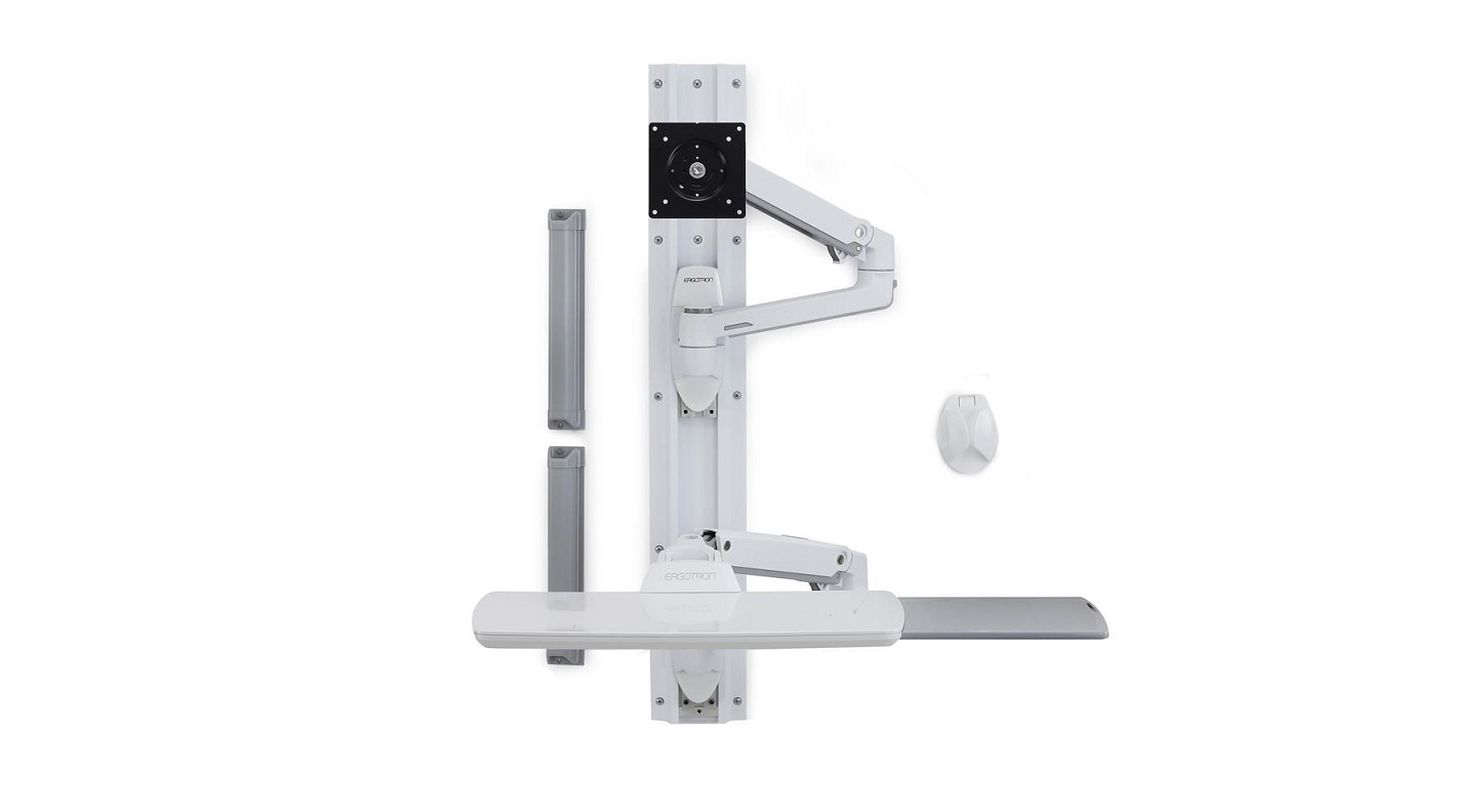 Ergotron Lx Wall Mount System Without Cpu Holder 45-551-216