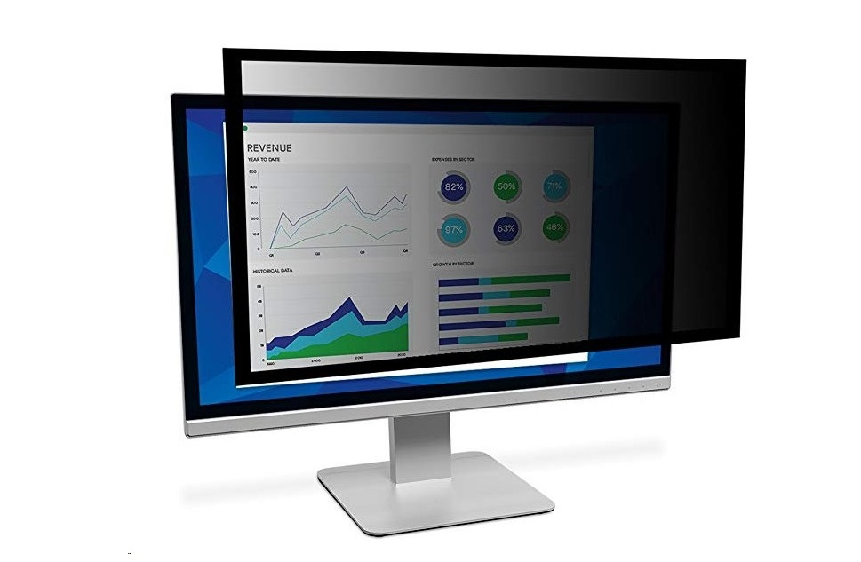 3M Framed Privacy Filter For 27 WideScreen Monitor PF270W9F