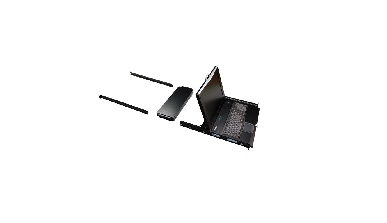 17 Black Box Servtray LCD Console Drawer With 16-Ports Catx KVM Switch KVT417A-16CATX