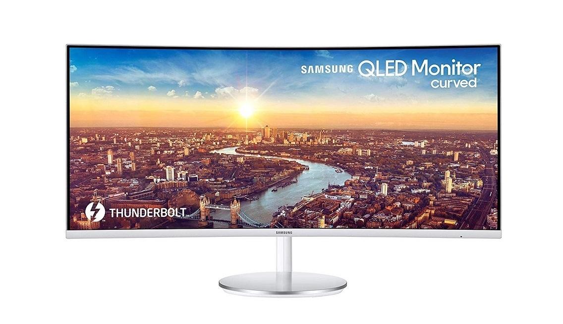 34 Samsung C34J791WTN CJ791 Series QHD 3440x1440 LED LCD UltraWide Curved White Monitor