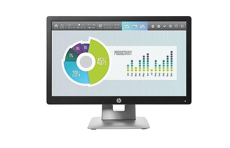 20 HP Elitedisplay E202 1600x900 VGA USB HDMI DisplayPort LED Monitor Black Silver M1F41AA#ABA