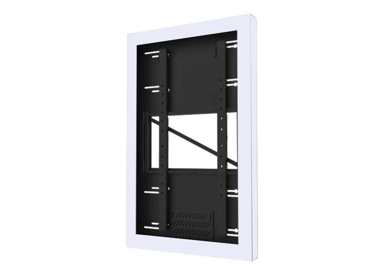 Peerless KIP655-W Portrait Wall Kiosk Enclosure White For 55 Monitors
