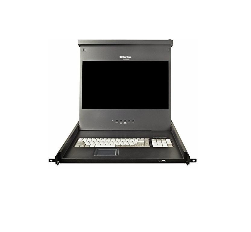 17 Raritan T1700-LED Console Drawer FullHD 1080p DVI VGA USB PS/2 1U Rack Mount LED
