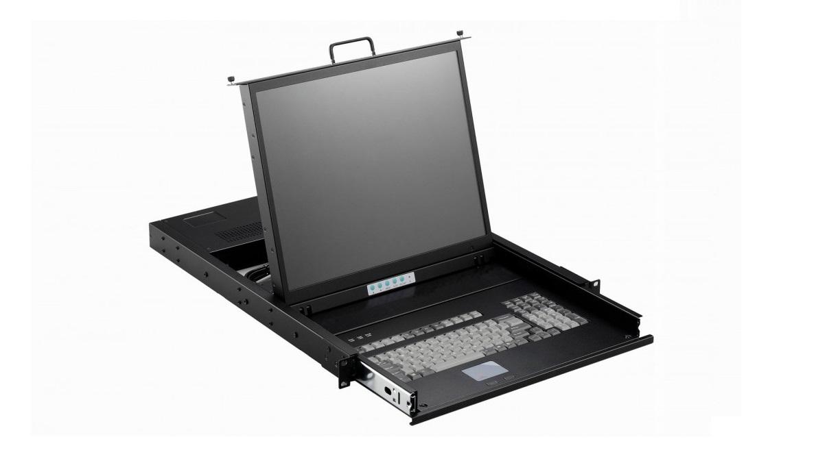 Acme Made 17 Smk 920 Series 1280x1024 Vga PS/2 1U Rack Mount Tft Lcd Server Monitor W Keyboard SMK920-P