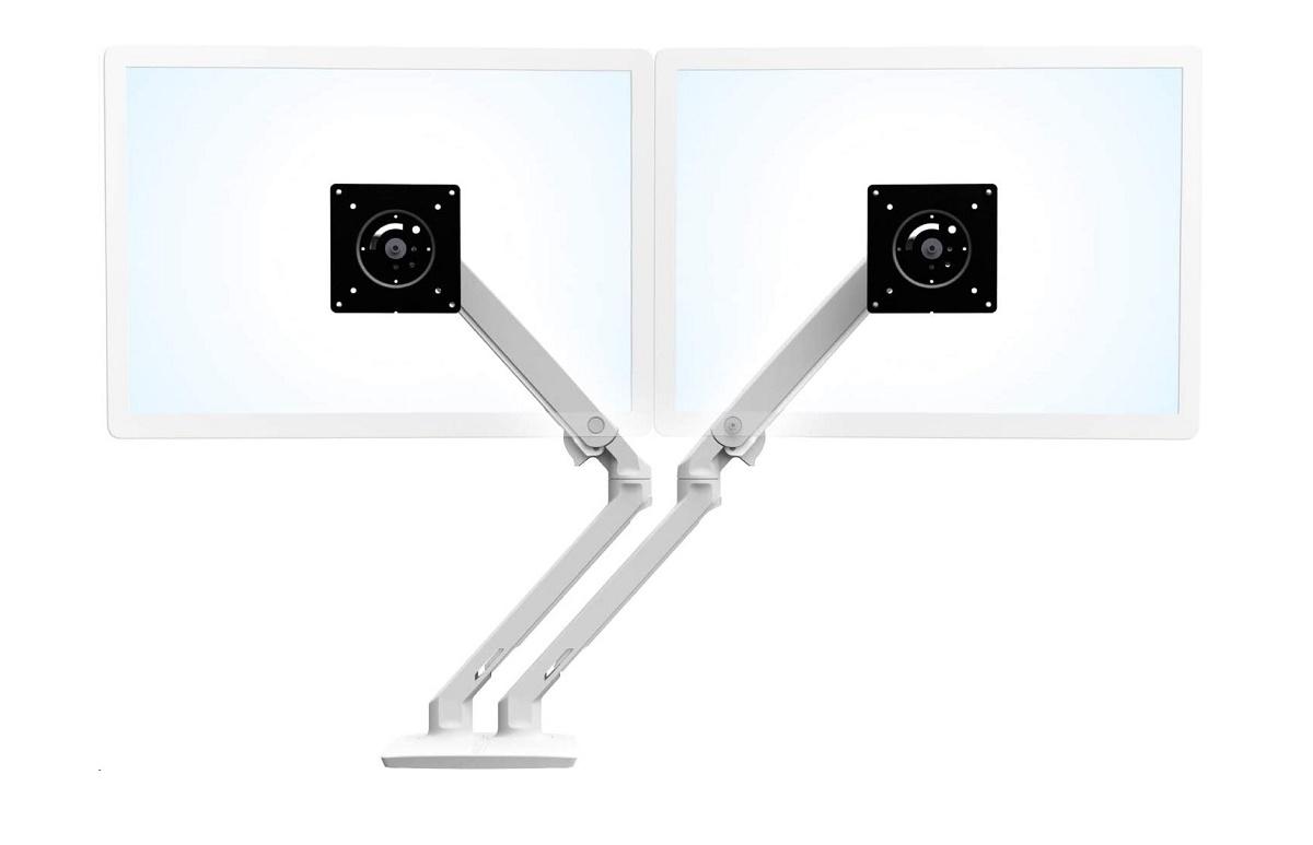 Ergotron Mounts Mxv Desk Dual Monitor Up To 24 Arm White 45-496-216