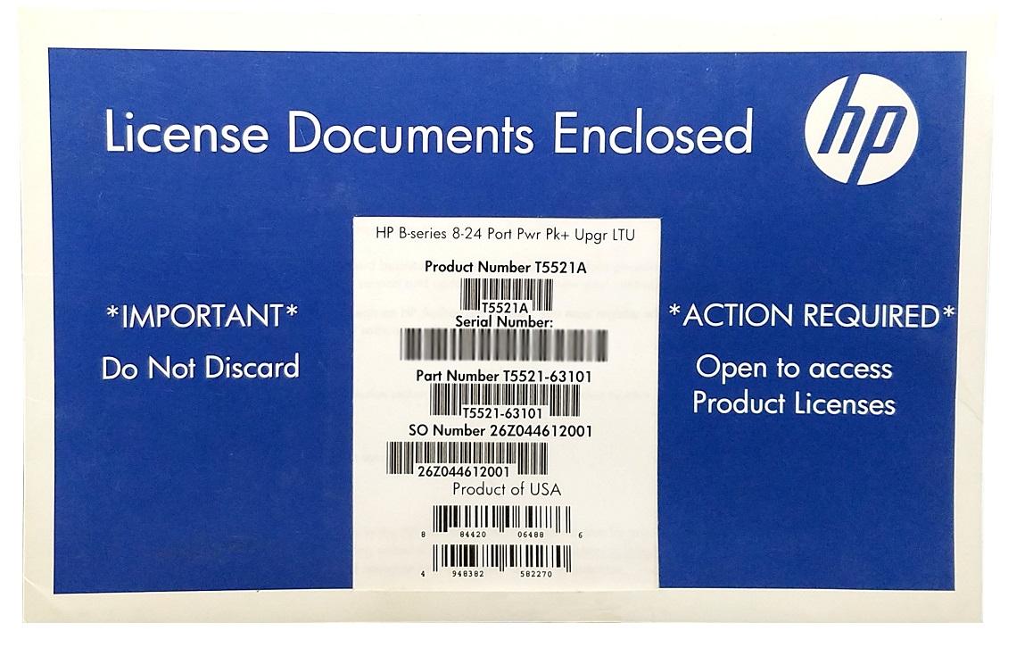 HP B-Series 8-24-Ports Power Pack+ Upgrade LTU T5520A