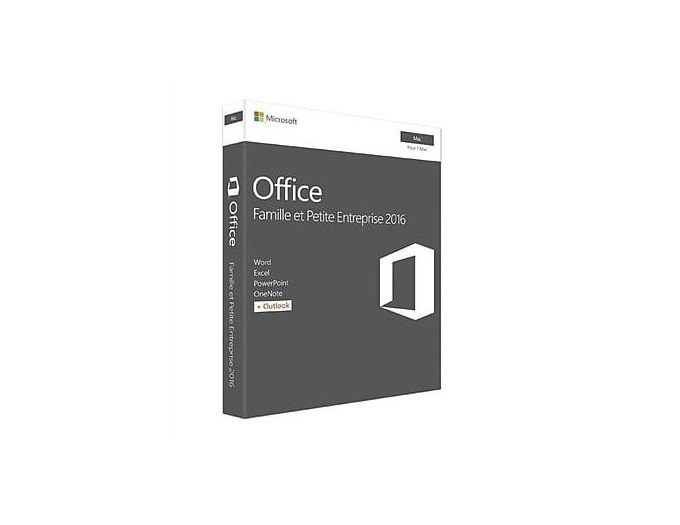 Microsoft Office 2016 Home Business License For MAC French W6F-00827