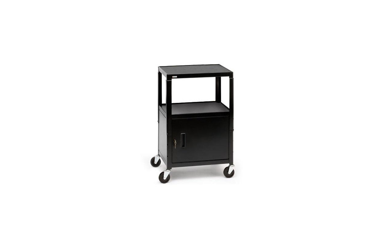 Bretford CA2642-P5 Multipurpose Cart With Cabinet Black