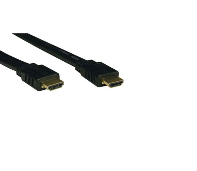 Tripp Lite Flat Hdmi Gold Male To 16ft Black Video Cable P568-016-FL