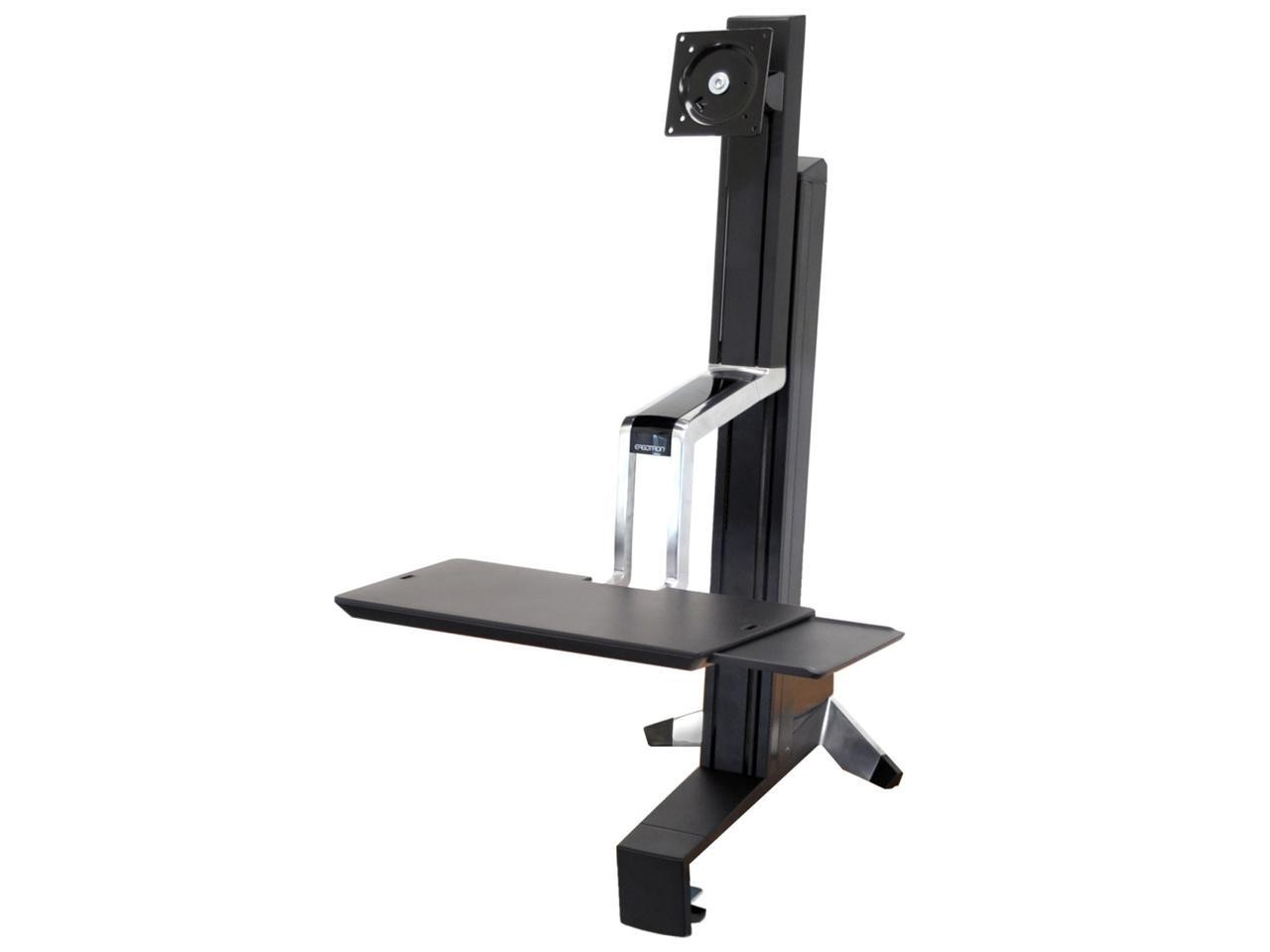 Ergotron WorkFit-S Single LD Sit-Stand Workstation Plastic Aluminum For LCD Display Black 33-342-200