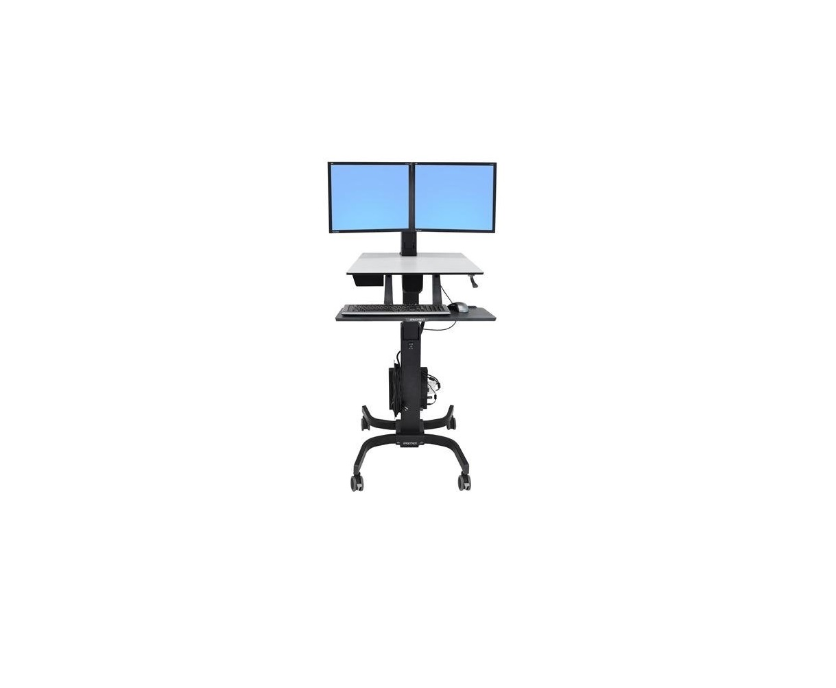 Ergotron WorkFit-C 24-215-085 Single Computer Stand Up To 24 Screen