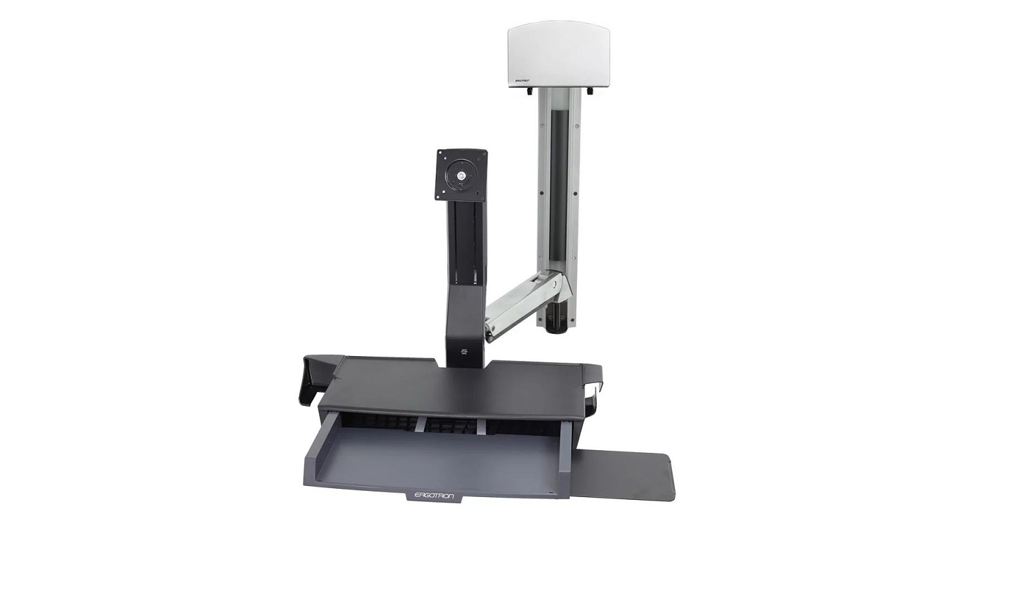 Ergotron Sit-Stand Combo System With Worksurface For CPU 24 Screen Support 45-270-026