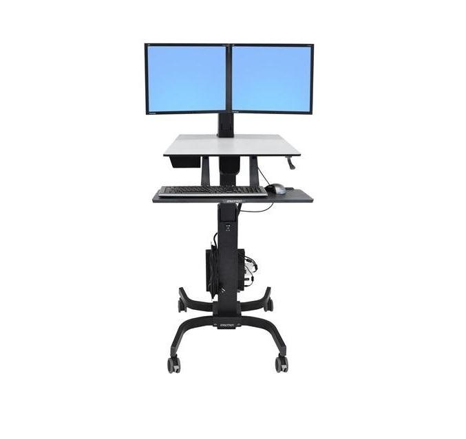 Ergotron WorkFit-C Dual Sit-Stand Workstation 24-214-085